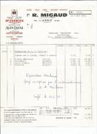 Facture , Machines Agricoles , Ets R. MIGAUD , 79 , L'ABSIE , Deux Sèvres , 1972 , Mc Cormick , Total - France