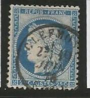 France - Cérès - N°60C Bleu - Obl. Cachet à Date CLERMONT 19/6/78 - 1871-1875 Cérès