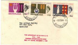 BERMUDA - 1966 - 20th Anniversary UNESCO 1946-1966 - FDC - Viaggiata Da Hamilton Per Hamilton - Bermuda