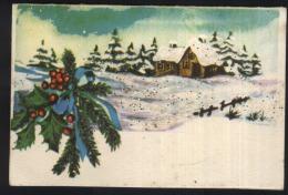 Christmas-greeting Card-liliput-10.5x7cm-used,perfect Shape - Noël