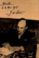 8 MAI 1945 A BERLIN,LE GENERAL DE LATTRE APPOSE SA SIGNATURE......CPSM GRAND FORMAT - Guerre 1939-45