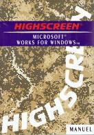 Manuel  En Français - HIGHSCREEN MICROSOFT WORKS FOR WINDOWS     (3813) - Informatica