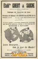 ETS GIBERT ET SAUGNE / CONSERVES DE LUXE.. ESCARGOTS../ SAINT ANDRE LES ALPES / B.A.  / PUB 1929 - Documentos Antiguos
