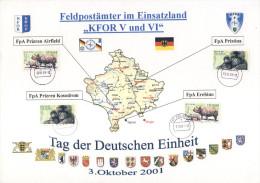 Feldpost�mter im Einsatzland KFOR V , VI - Prizren , Pristina , Erebino