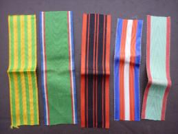 LOT DE RUBANS N° 1 POUR MEDAILLES  Casque Képi Uniforme Shako Sabre - France