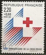 France 1988  Oblitéré  N°    2555a   Croix Rouge ( Dentelé 13,5 X 13 ) - Used Stamps