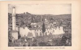 SALONIQUE  St Demétre Aprés L'incendie Cpa écrite Le 20/9/18 Par L'officier D'administration De 1re ClasseBAPTANDIER - Guerre 1914-18
