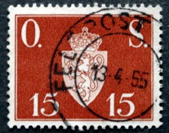 Norway  1952  Minr.63  ( O) FELL POST 13-4-1955 ( Lot L 286) - Service