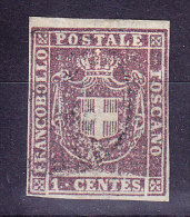 Toskana - 1860 Mi.#17 Gestempelt Bogenrandstück - Toscane