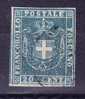 Toskana - 1860 Mi.#20 Cent. 20 Gestempelt - Toscane