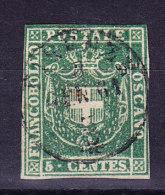 Toskana - 1860 Mi.#18 5 Cent. Gestempelt - Toscane