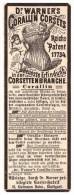 Original Werbung - 1884 - Dr. Warner`s Corsets , Fanrik In Stuttgart , Korsett , Corset !!! - Lingerie