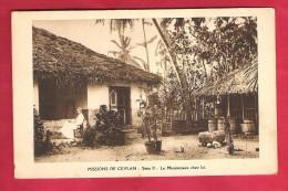 Asie-Sri Lanka-Mission De Céylan-Série II -le Missionnaire Chez Lui--Taille Cpa Non écrite - Sri Lanka (Ceylon)