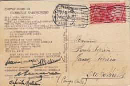 Carta Postale Epigrafe Dettata Da Gabriele D'Annunzio Torino / 1933 - Nuovi