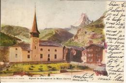 ZERMATT-EGLISE ET MONT CERVIN- - VS Wallis