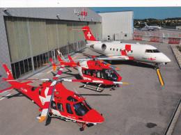 Medical Helicopters & Jet , Rega-Center , Zurich , Switzerland , 80-90s - ZH Zurich