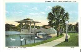 Band Stand on Lake Eola, Orlando, Florida, the City Beautiful  O.49