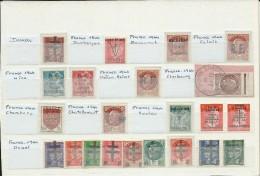 LIBERATION - COLLECT de 40 TIMBRES RF +FAUX DE LONDRES **/*/oB (2 PAGES) - PLUPART SIGNES CALVES. COTE MAYER > 1000 EURO