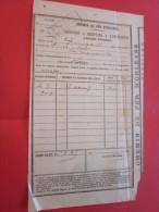 ANGERS 26 Juin 1882 Récépissé Expéditeur Iché La Nouvelle Chemin De Fer D'Orléans Petite Vitesse Fiscal à Sec Balais - France
