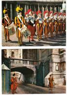 2 Postcards : GUARDS Of The VATICAN - Garde/Guardie/Wachen - Vaticano - Vaticaanstad