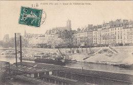 CP  PARIS 75 QUAI DE L'HOTEL DE VILLE - Arrondissement: 04