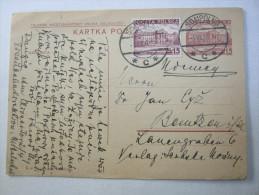 1937, Ganzsache Aus SOMPOLNO - Stamped Stationery