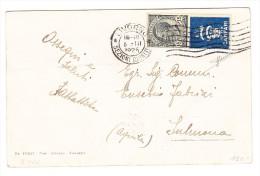 Italien Livorno 5.3.1925 Frankiert 15Cent. Mit Werbung Campari Auf AK Nach Sulmona (Aquila) - 1900-44 Victor Emmanuel III.