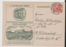 Bln128/  BERLIN -  Mi.Nr. P 8 Bedarfsverwendet 1950, OPD Berlin, 100 Jahre - Postkarten - Gebraucht
