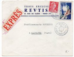 Joaillerie + Muller Sur Lettre Par Exprès De 1956 - 1921-1960: Periodo Moderno