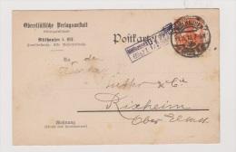 ALLEMAGNE  //  POSTKARTE   //   DE MULHAUSEN  //   POUR RIXHEIM  //  21/5/1918 //CACHET CENSURE - Stamped Stationery