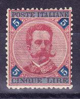 Italien 1891 Mi.# 59 * Mit Falz 5 Lire - 1878-00 Humbert I.