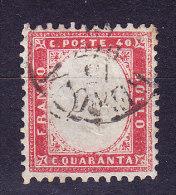 Italien 1862 Mi.# 11 Gestempelt (40Cent Karmin) - Gebraucht