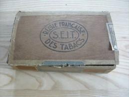 Régie Française Des Tabacs S.E.I.T  Coffret  Bois  De 50 Cigares Voltigeurs Vide Etat D âge - Cigares - Accessoires