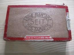 Régie Française Des Tabacs S.E.I.T  Coffret  Bois Vide  De Cigares Voltigeurs  Extra  Vide Etat D âge - Cigares - Accessoires