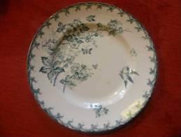 assiette st amand hammage -aubepine -23 cm-3 petites taches brunes