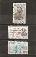 France 1989 Oblitéré N° 2608 -  2609 -  2610    1° Tramway à Clermont Ferrand & Villers Cotteret  &  Cauchy - Frankrijk