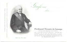 Ferdinand Vicomte De Lesseps, Französischer Diplomat Und Gelehrter, Um 1900 - Personnages Historiques