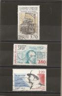 France 1989 Oblitéré N° 2608  -  2610  -  2611  1° Tramway à Clermont Ferrand &  Cauchy & De Lattre De Tassigny - Frankrijk
