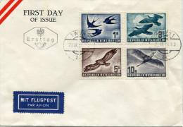 AUSTRIA 1953 FDC with BIRDS  Mich. � 700,00 VERY RARE!!!!!!