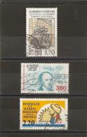 France 1989 Oblitéré N° 2608  -  2610  - 2613    Tramway à Clermont Ferrand  &  Cauchy & Les Harkis - Frankrijk