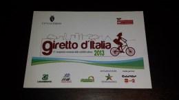 C-20830 CARTOLINA TORINO - GIRETTO D'ITALIA 2013 3'' CAMPIONATO NAZIONALE CICLABILITA' URBANA - BICICLETTA - Manifestazioni