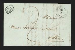Pr�philat�lie - lettre 1842 type 18 WELLIN + correspondance d'arrondissement pour Tellin