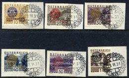 AUSTRIA 1931 Rotarian Congress Set Used On Pieces. Michel 518-23 - 1918-1945 1st Republic