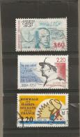 France 1989 Oblitéré N°  2610  -  2611 -  2613   Cauchy  &  De Lattre De Tassigny  &  Les Harkis - Frankrijk