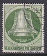 Germany Berlin 1952 Freedom Bell 10 Pf Green, Used - [5] Berlin
