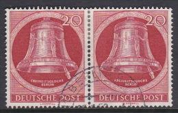 Germany Berlin 1952 Freedom Bell 20pf Red, Used Pair - [5] Berlin