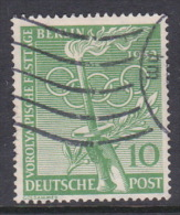 Germany Berlin 1952 Preolympics 10pf Green Used - [5] Berlin