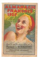 Almanach Fran�ois 1937 offert par la Pharmacie J. Bourderionnet � Felletin dans la Creuse (23)