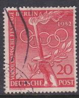 Germany Berlin 1952 PreOlympics 20pf Rose Red Used - [5] Berlin