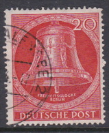 Germany Berlin 1953 Freedom Bell 20pf Red, Used - Oblitérés